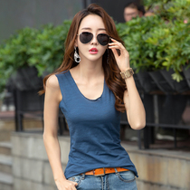 Bamboo cotton loose casual vest female 2019 cotton short paragraph wear suspenders sleeveless womens underwear