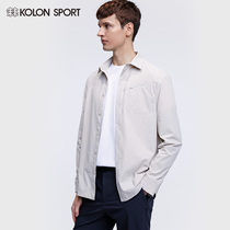 KOLONSPORT can long men's woven clothes long sleeve shirt men's outdoor shirt spring shirt