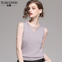 Sexy thin halter hollow chic small camisole female summer sleeveless slim ice silk knit sweater