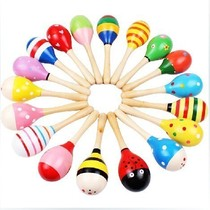 Special Kindergarten Olf early teaching musical instrument small sand hammer sand ball wooden children puzzle early teaching toys