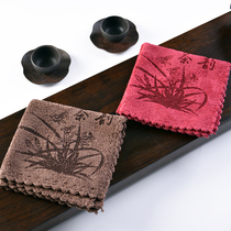 Tea towel absorbs water and thickens kung fu tea set square fabric tea set cloth tea ceremony spare parts plus thick tea towel tea cloth towel.
