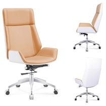 Net red white chair Office boss chair office chair computer chair Home Study simple modern conference chair