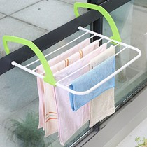 Multifunctional folding clothes rack window cool hanger balcony small hanging clothes drying rack indoor radiator shoe rack