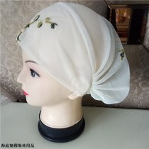 Islamic handmade hat Muslim womens embroidery hat Hui turban hijab spring and summer thin section hat