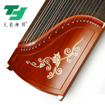 Yangzhou day art guzheng mahogany plain adult children beginners learning playing Test professional playing with the piano