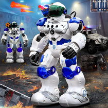 Ying Jia mechanical police remote control robot intelligent high-tech early education Machine new Will childrens toys large boy