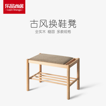 Multi-functional solid wood for shoes stool home shoe rack stool into the door can be seated shoe stool stool stool storage shoe cabinet
