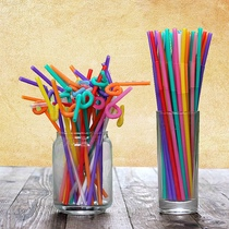 Art straw whole box 4000 disposable color-shaped beverage straw factory direct store price