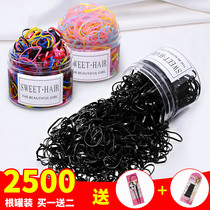 Children disposable rubber band Girl Baby tie hair black small hair ring does not hurt hair ornaments color head rope simple