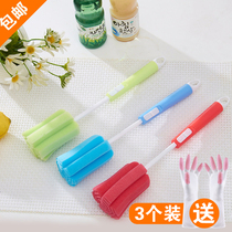 3 cups brush Thermos cup sponge cleaning Cup brush wash cup shabu bottle Brush cleaning Brush Set