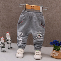 Baby Pants boy 1-3 year old hot spring fall baby trousers outside wear open crotch children autumn dress Girl Leisure