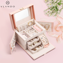 Wei LAN duo jewelry box female Princess European-style Korean jewelry storage box earrings wedding birthday gift products
