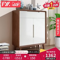 Feiyi Xuan Nordic solid wood shoe cabinet simple shoe rack door Cabinet multi-functional entrance lockers living room F007x
