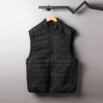 Foreign trade tail single winter new mens outdoor sports cotton vest plus thick standing collar cardigan strap jacket