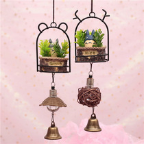Creative small animal Totoro wind chimes childrens holiday gift small fresh night light wind chimes childrens bedroom pendant