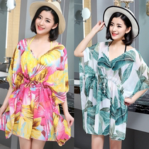 South Korea summer bikini blouse seaside sunscreen beach skirt swimsuit veil oversized wrap skirt wrap yarn hot spring swimwear