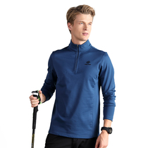 TECTOP exploration outdoor quick-drying t-shirt men's half cardigan collar long-sleeved sports quick-drying jacket female breathable