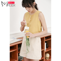 Honey Fei small fresh sleeveless shirt female 2019 new summer bottoming wild solid color inside the vest summer wear