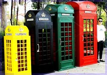 Custom London post box telephone booth tin model large outdoor window decoration ornaments studio photography props