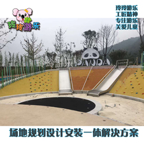 Large stainless steel slide play equipment indoor and outdoor park childrens slide outdoor slide kindergarten slide
