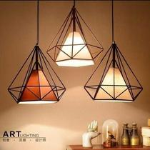 Three-headed simple modern creative personality industrial wind aisle bar bedroom dining room lamp Nordic dining chandelier