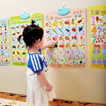 Children early to teach sound wall chart baby cognitive wall stickers voice literacy card children Pinyin learning digital enlightenment word recognition