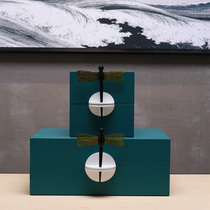 New Chinese modern Zen Dragonfly jewelry box jewelry box crafts decoration home interior bedroom desktop furnishings
