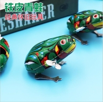 Tin frog jump frog hair strip baby toy classic 80 after nostalgic retro hot selling toys.