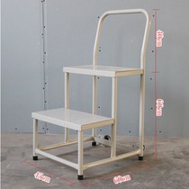 Supermarket job climbing ladder with wheels shelves non-slip mobile platform with handrails storage fence pick up stool