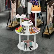 Bag window display stand creative island Taiwan combination maternal and child store display shop commercial shop shoe cabinet decoration