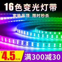 Lights with led three-color Home ceiling 220v lights with outdoor waterproof super bright lights colorful color line Lights