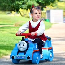 Thomas Electric Small train children can sit oversized 1-3-6 year old male and female baby toy train can sit people