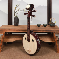 Xinghai small Yuen musical instrument beginner steel products flower rich headdress hardwood ladies flying figure small Ruan Qin