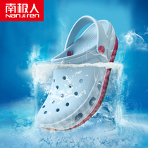 Antarctic people hole shoes male outdoor non-slip Baotou soft bottom casual seaside resort slippers ladies beach shoes tide