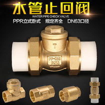 DN15 20 25 brass check valve 4 6 points 1 inch horizontal check valve inside and outside the wire water pipe check valve PPR