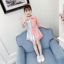 Girls dress summer 2019 New childrens Super-Western princess dress Big childrens clothing little girl chiffon skirt tide