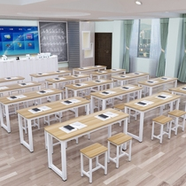 Training table factory direct long table single double desks and chairs primary and secondary school tutoring tutorial desk