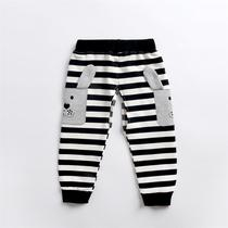 Baby open crotch pants baby autumn boys pants Cotton Girls casual trousers childrens sports pants 1-3 years old
