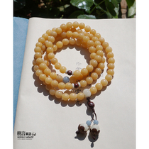Original Buddha 108 Semic natural old Bodhigen 8mm weathered multi-circle hand-string necklace.