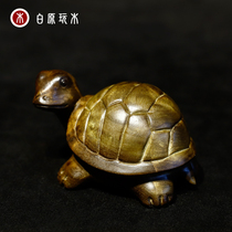 Rich A side of the world small tortoise shell gold silk Nanmuwen play custom hand-made can play hand handle pieces to make money.