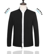 High-quality gift brand spring and autumn middle-aged mens jacket thin jacket business casual mens jacket New