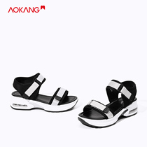 (Store delivery) aokang shoes 2019 summer new fashion simple casual thick comfortable sandals women