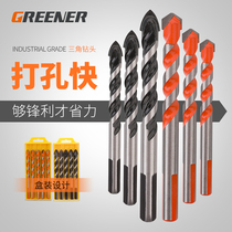 Greenwood Triangle bit Multifunctional concrete tile ceramic cement wall turnaround punch special Universal drill bit
