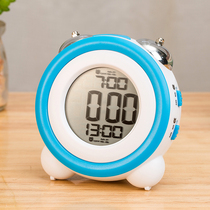 Multifunctional electronic alarm clock students with children cute clock table clock cartoon mute bedside luminous creative personality