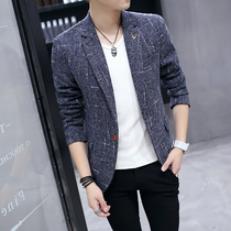 2019 autumn and Winter new XS small men S small version 150 small men autumn casual Korean version slim suit tide