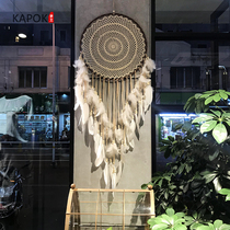 Indian Dream Catcher hanging ornaments large wedding wedding white feather pendant dream net wind chime creative wall hanging