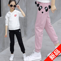 Girls sweat pants 2019 new autumn in the Big children's tide children's clothing women's Korean version of the children's spring and autumn casual pants