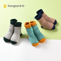 Tong Tai new baby products autumn and winter thickened towel socks 6-12 months men and women baby socks socks single and double