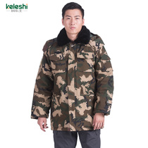 Camouflage coat Army coat cotton coat men and women winter thickening training coat cold clothing cold storage labor protection cotton jacket