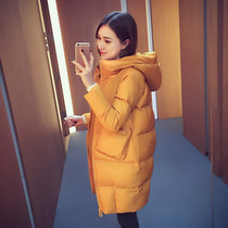 2019 new pregnant womens cotton coat winter Korean version of loose medium-length large-size a-word down cotton clothing tide.